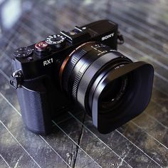 Sony RX1 Pro Camera Kit from Fotodiox Pro: Metal Grip, Leica-Style Lens Hood, Oversized Shutter Release Button //