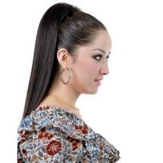 Synthetic Dark Coffee Long Straight Ponytail Hairpiece *free ship