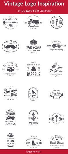 Logaster Logo Maker presents: Vintage Logo Retro Design Vintage Logo Design, Retro Design, Logan, Retro Logos, Logo Maker, Modern Logo, Logo Design Inspiration, Retro Vintage, Presents