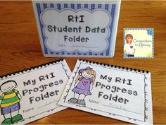 Wow!  RTI Binders & Graphs for different grade levels- great system for keeping RTI organized!