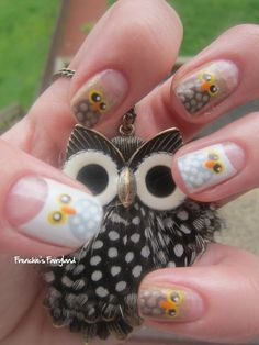 Fantastic Owl Nails : ). Too cute!