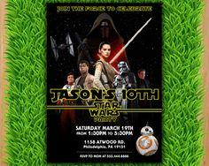 Star Wars Episode VII: A Force Awakens Invitation  Star Wars