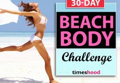 Looking for perfect beach body plan? Try this 30-day beach body challenge to get ready for beach fun. Best bikini body plan for women. now enjoy our sunbath with perfect curves and body shape. This powerful workouts will work great on your body. Flat belly, slim waist, sexy legs and bigger butt everything will turn to give you best curves. Best bikini body challenge. Best beach body workout challenge. Best summer workout for women.
