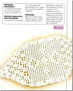 tapetinho croche file geométrico