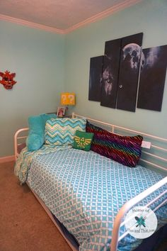 Learn how the bed makes a room with from How To Make Bed, Easy Diy Projects, Cleaning Hacks, Flooring, Blanket, Room, Crafts, Walmart, Furniture