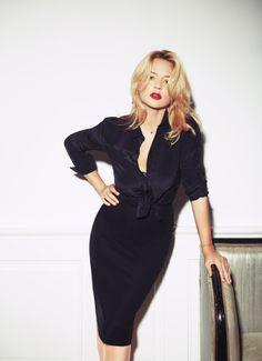 Virginie Effira in a shirt and skirt from #EmporioArmani