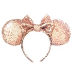 Rose Gold Ears Sequin Ears Minnie Ears Rose by ExtraMagicHours