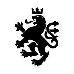HERALDIC LION -V1- Vinyl Decal Sticker - Coat of Arms Heraldry Charge Family Crest *Free Shipping*