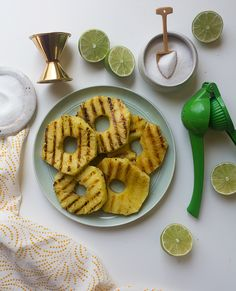 Grilled Pineapple Margarita // www.acozykitchen.com