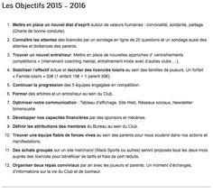 Les objectifs du Club de Tennis de Table d'Eauze pour la saison 2015 - 2016
