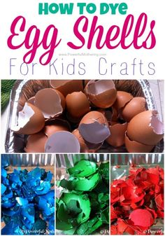 How To Dye Egg Shells For Kids Crafts easter egg dye on PowerfulMothering.com