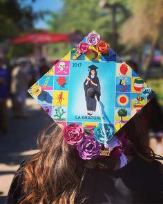 """Loteria Graduation Cap Topper Template La Graduada - Custom Grad Cap Decoration 9.5""""x9.5"""""""