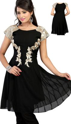 Latest Kurti, Peplum Dress, Bollywood, Color Black, Usa, Formal Dresses, Lady, Check, Stuff To Buy