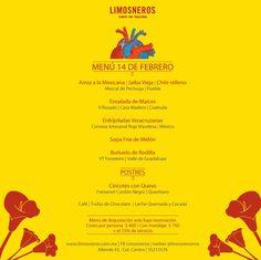 Menú de degustación. 14 de febrero 2013 Limosneros - Café de Tacuba.