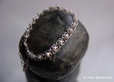 Vintage sterling silver Ottoman harem style bracelet  by semivint