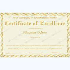 excellence certificate excellence certificateofexcellence certificate create certificate certificate templates pinterest pinterest