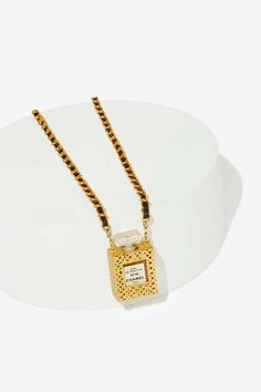 Vintage Chanel No.19 Perfume Bottle Necklace - Jewelry | All | Accessories | Chanel | Vintage Chanel Accessories | All Vintage Chanel | Chanel | All | Top Gifts