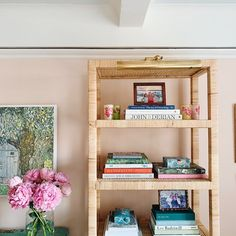 Balboa Rattan Bookcase from Serena & Lily at my old NYC Apartment.
