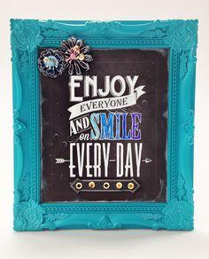 Enjoy Everyone Frame - Chalkboard - Scrapbook.com