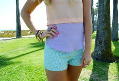 color blocking pastels for summer {love the shorts}