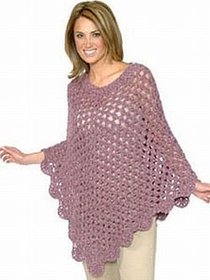 crochet pattern - alpaca boucle poncho    From plymouthyarn.com