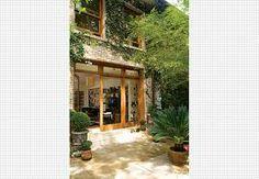 cozinha tijolinho a vista banco madeira - Pesquisa Google
