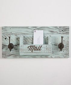Loving this 'Mail' Slot & Dual Wall Hook on #zulily! #zulilyfinds