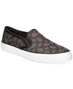 COACH Chrissy Slip-On Logo Sneakers (140/32)