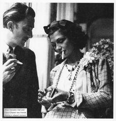 Coco Chanel & Salvador Dali . Love these two!
