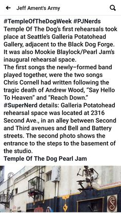 Mookie Blaylock, Jeff Ament, Temple Of The Dog, Song One, Chris Cornell, Pearl Jam, Two By Two, Army, Songs