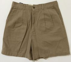 Dockers Women's Beige, Khaki Pleated Front Casual Shorts Size 12 NWT 100% Cotton #DOCKERS #CasualShorts