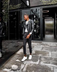 Style by lesleympofu_  #mensfashionthreads#mensfashion#menswear#studentfashion#streetstyle#relayjeans#mensstyle#brotherhoodofstyle#blackmenstyle#mensfashiongoods#sastyleblogger#ootdmen#mzansigentleman#lesleympofu#zaramen#zarastyle#blackmenswear#mensootd Mens Fashion Blog, Zara Man, Menswear, Leather Jacket, Street Style, Photo And Video, Lifestyle, Model, Black