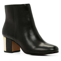 2c0e2b470d9a Shop Women s ALDO Black size 9 Ankle Boots   Booties at a discounted price  at Poshmark. Description  Black booties with gold heels.
