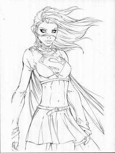 Michael Turner sketch of Supergirl! Michael Turner, Comic Book Artists, Comic Artist, Comic Books Art, Turner Artworks, Joker Kunst, Justice League, Character Art, Character Design