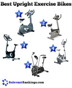 The top 5 best upright exercise bikes as rated by RelevantRankings.com