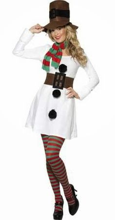 Miss Snowman Costume Womens Ladies Christmas Party Outfit Fancy Dress Festive Ugly Sweater Party, Ugly Christmas Sweater, Christmas Snowman, Christmas Eve, Felt Snowman, Christmas Couple, Christmas Scenes, Father Christmas, White Christmas