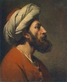 Jean-François Portaëls Head Of An Oriental Man , 1842 Oil on canvas 56,5 x 47 cm | MutualArt