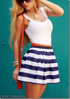 classic beach look.  Not too fond of stripes though.