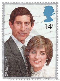 Vintage Royal Wedding Stamp 1981 by Artdirection, via Dreamstime