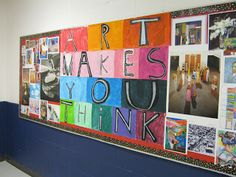 Art in the Big Green Room: bulletin boards