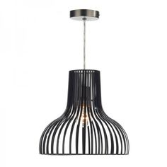 The Luciana Black Shadeis a non-electric pendant with a painted black finish Non-electric pendants are shades that fit onto a normal ceiling rose and lamp holder Note: the lamp holder is not included, it is pictured for demonstration purposes only Can fit an E27 or a B22 lamp holder #lighting