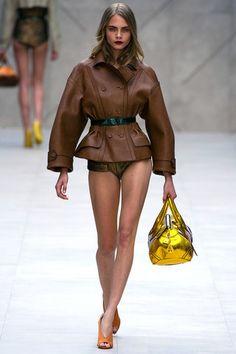 Burberry Prorsum Spring 2013: jacket inspired by eisenhower jacket of World War II