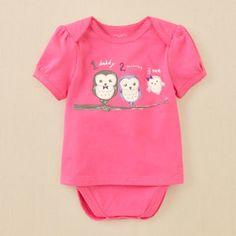 newborn - layette - 2-in-1 owl bodysuit   Children's Clothing   Kids Clothes   The Children's Place $10.36