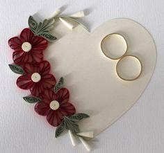 Biglietto di congratulazioni matrimonio quilled di PaperDaisyCards
