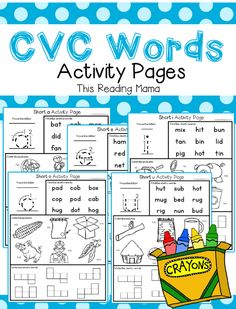 These CVC word pages are amazing!  Love!