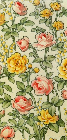 Flowerbed for the Miller's Daughter Textiles, Textile Prints, Textile Patterns, Textile Design, Print Patterns, Retro Wallpaper, Pattern Wallpaper, Pattern And Decoration, Flower Backgrounds