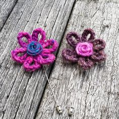Pink Lapel Flower  Purple Lapel Flower  Wedding Lapel by MayCheang