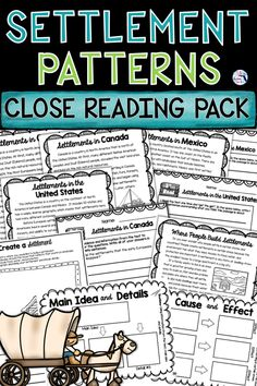This Social Studies Close Reading Pack has everything you need to fully teach the Social Studies standard for Human Systems – Explain how the environment influences settlement patterns in the United S Social Studies Worksheets, 6th Grade Social Studies, Teaching Social Studies, Geography Lessons, Teaching Geography, Reading Passages, Reading Comprehension, Teaching Strategies, Teaching Ideas