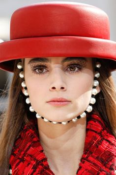 """Romy Schonberge for Vogue Japan """"Both hats and sandals are crazy for pearl accessories this Autumn"""" in November 8, 2016"""