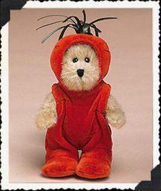 Boyds-Bear-Cari-Carrot-6-Plush-Peeker-Bear-904246-New-2004